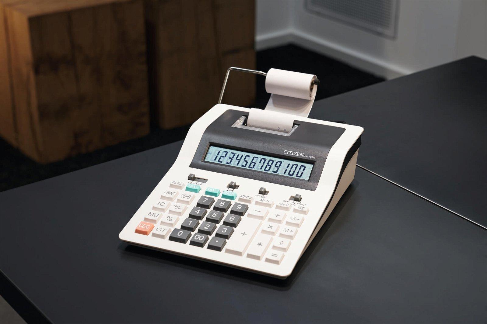 Tischrechner printing CX 123N, weiß