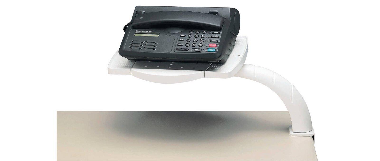 Telefonarm funktional, mit Multifunktions-Platte, grau