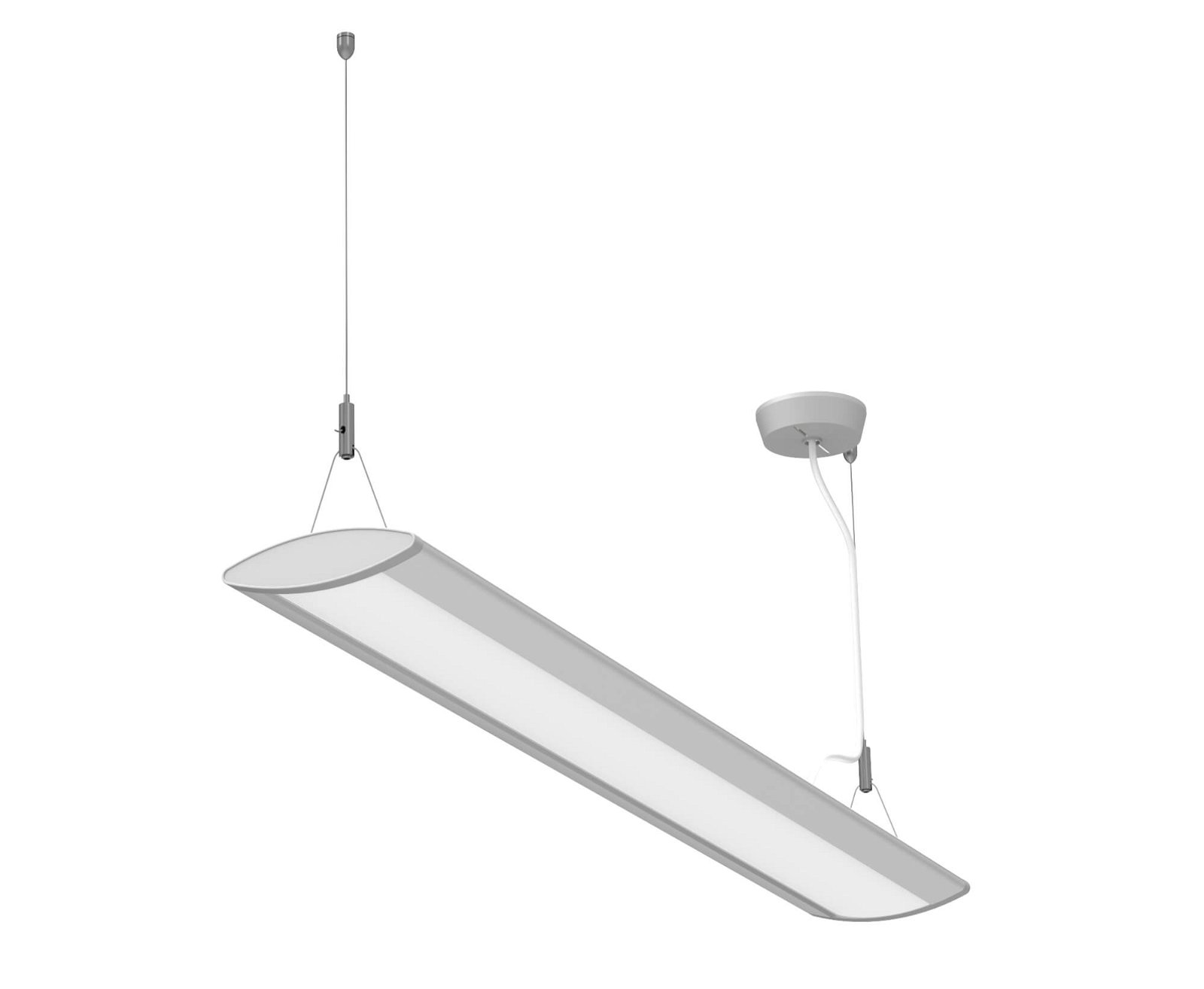LED-Pendelleuchte MAULeye, 30 W, 94 cm, silber