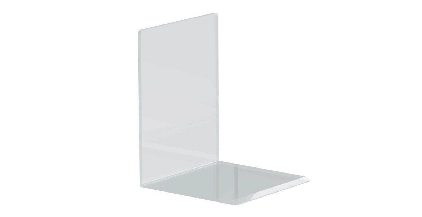 Buchstützen aus Acryl, 10 x 10 x 13 cm, glasklar