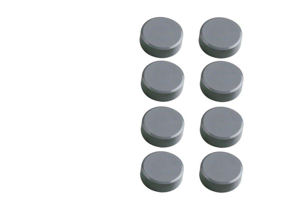 Facetterand-Magnet MAULpro SB Ø 15 mm, 0,17 kg, 8 St./Set, grau