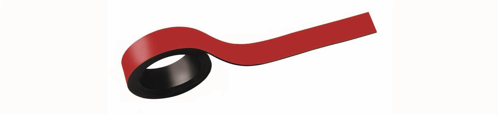 Magnetstreifen, 1,5x100 cm, 2 St./Set, rot