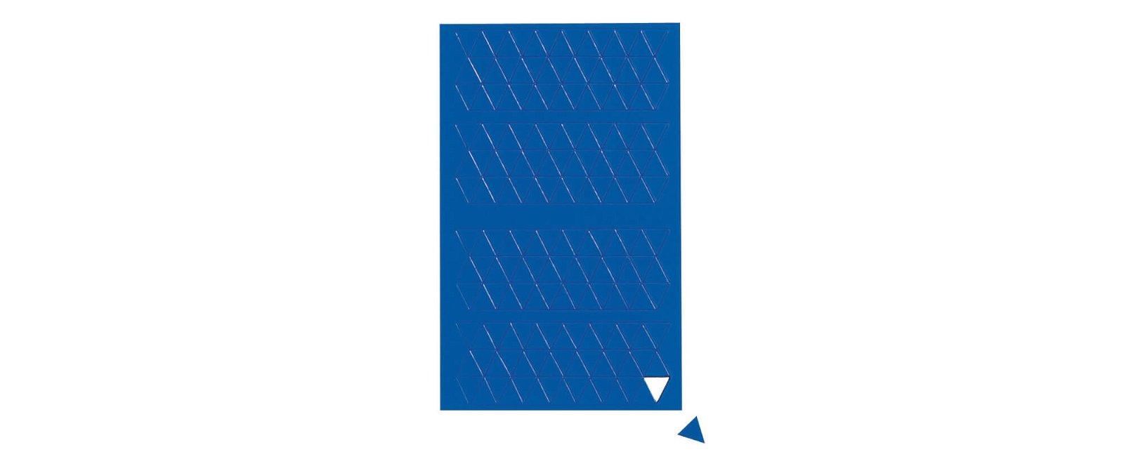 Magnetsymbole Dreieck,  180 St./Btl., blau