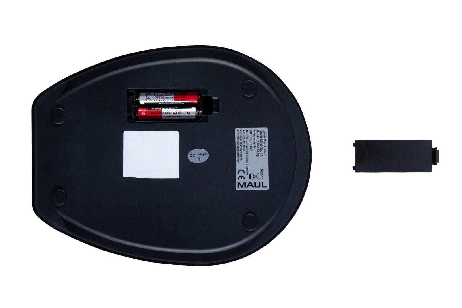 Briefwaage MAULgoal mit Batterie, 5000 g, schwarz