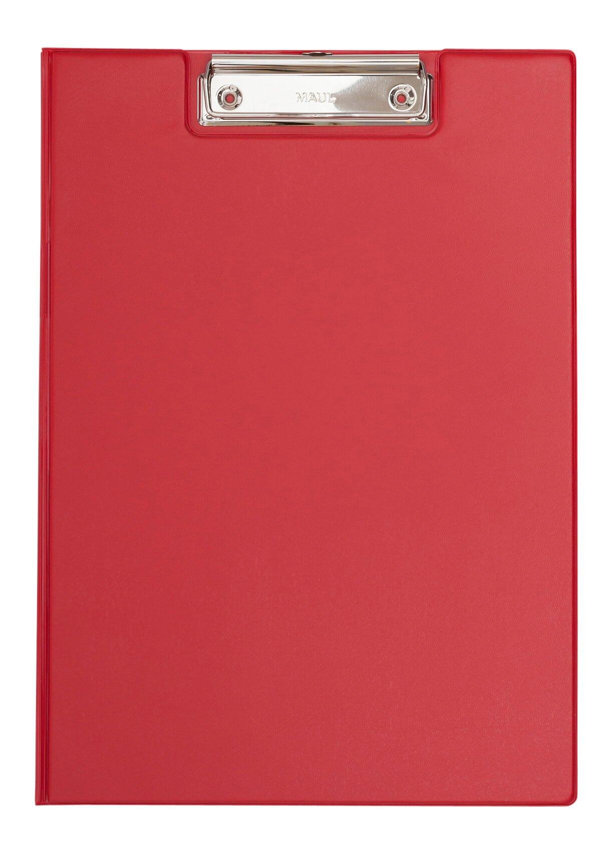 A4 Schreibmappe mit Folien- überzug, rot