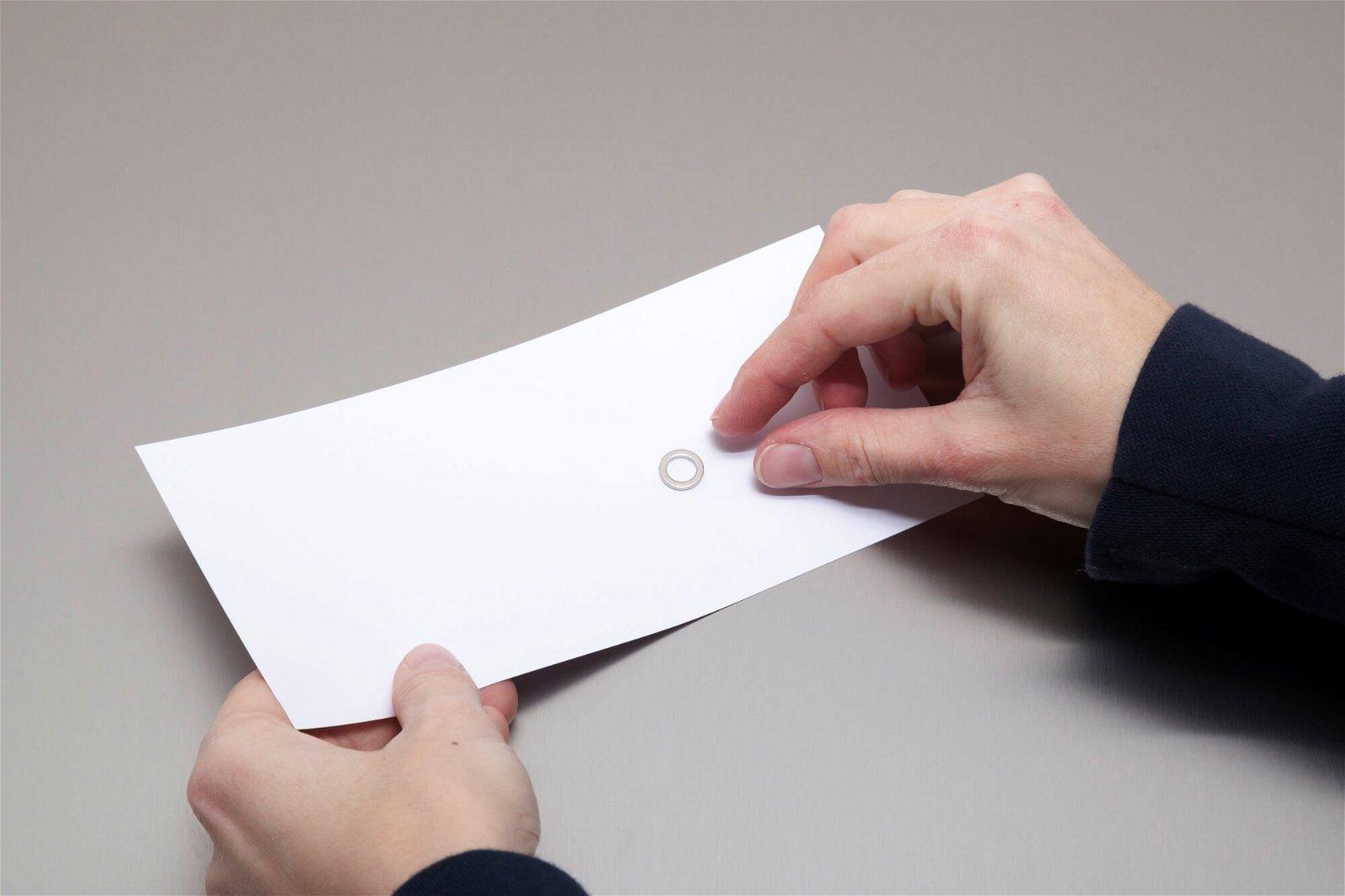 Neodym-Ringmagnet, Ø 12 mm, 0,5 kg Haftkraft, 10 St./Set, hellsilber