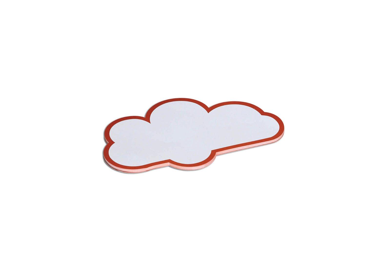 Moderationskarten Wolke, 14 x 23 cm, 20 St./Pack, weiß