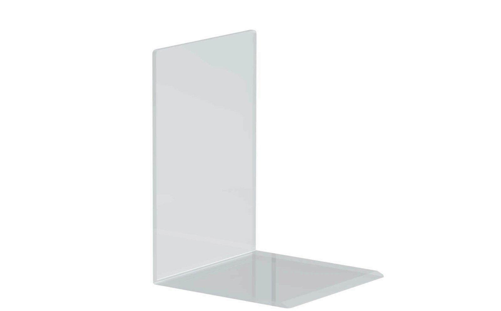 Buchstützen aus Acryl, 12 x 12 x 17 cm, glasklar