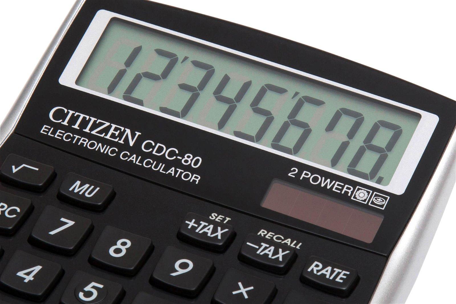 Tischrechner CDC 80BKWB, schwarz