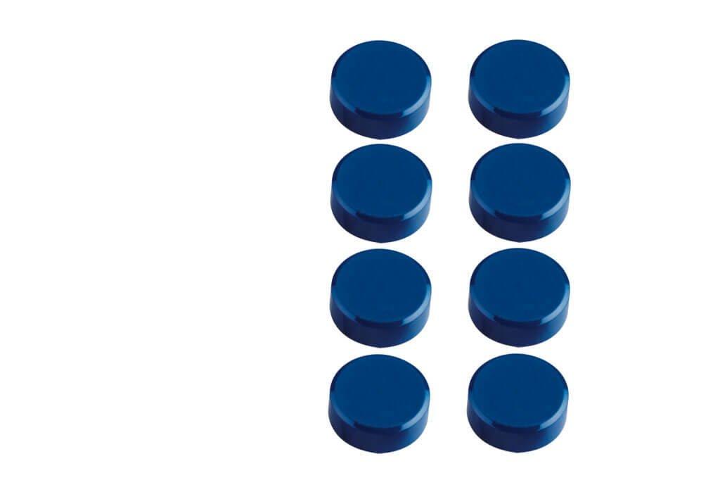 Facetterand-Magnet MAULpro SB Ø 15 mm, 0,17 kg, 8 St./Set, blau