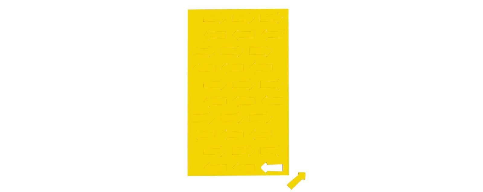Magnetsymbole Pfeil,  30 St./Btl., gelb
