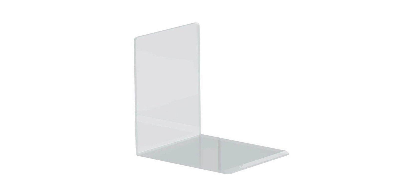 Buchstützen aus Acryl, 10 x 8 x 10 cm, glasklar