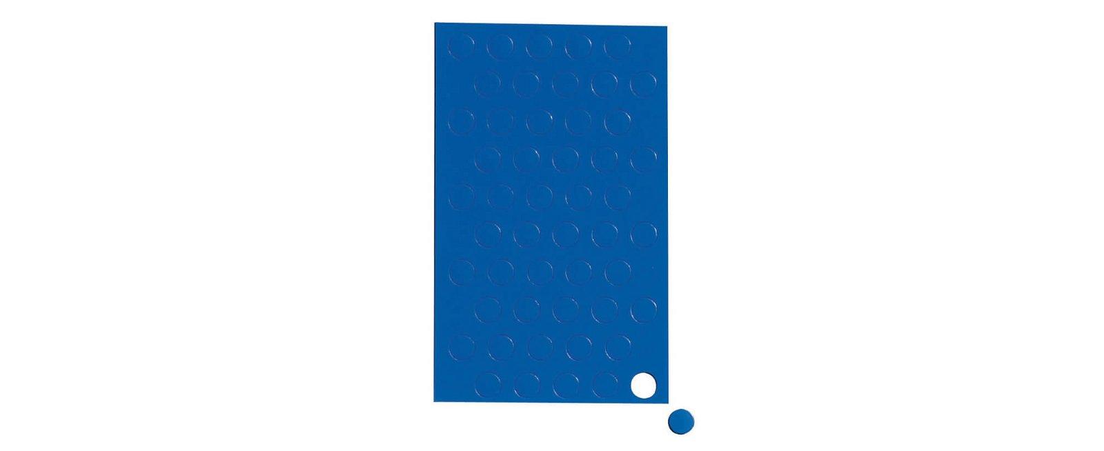 Magnetsymbole Kreis,  50 St./Btl., blau