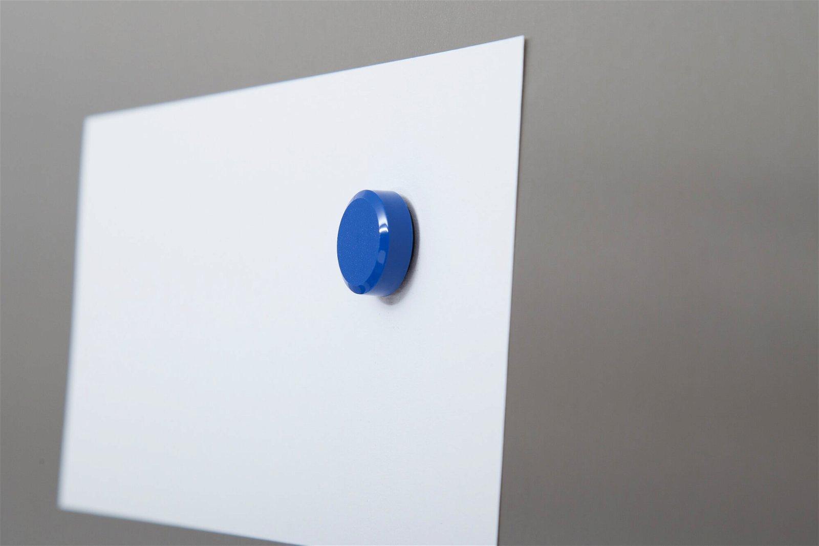 Facetterand-Magnet MAULpro Ø 20 mm, 0,3 kg, 20 St./Set, blau