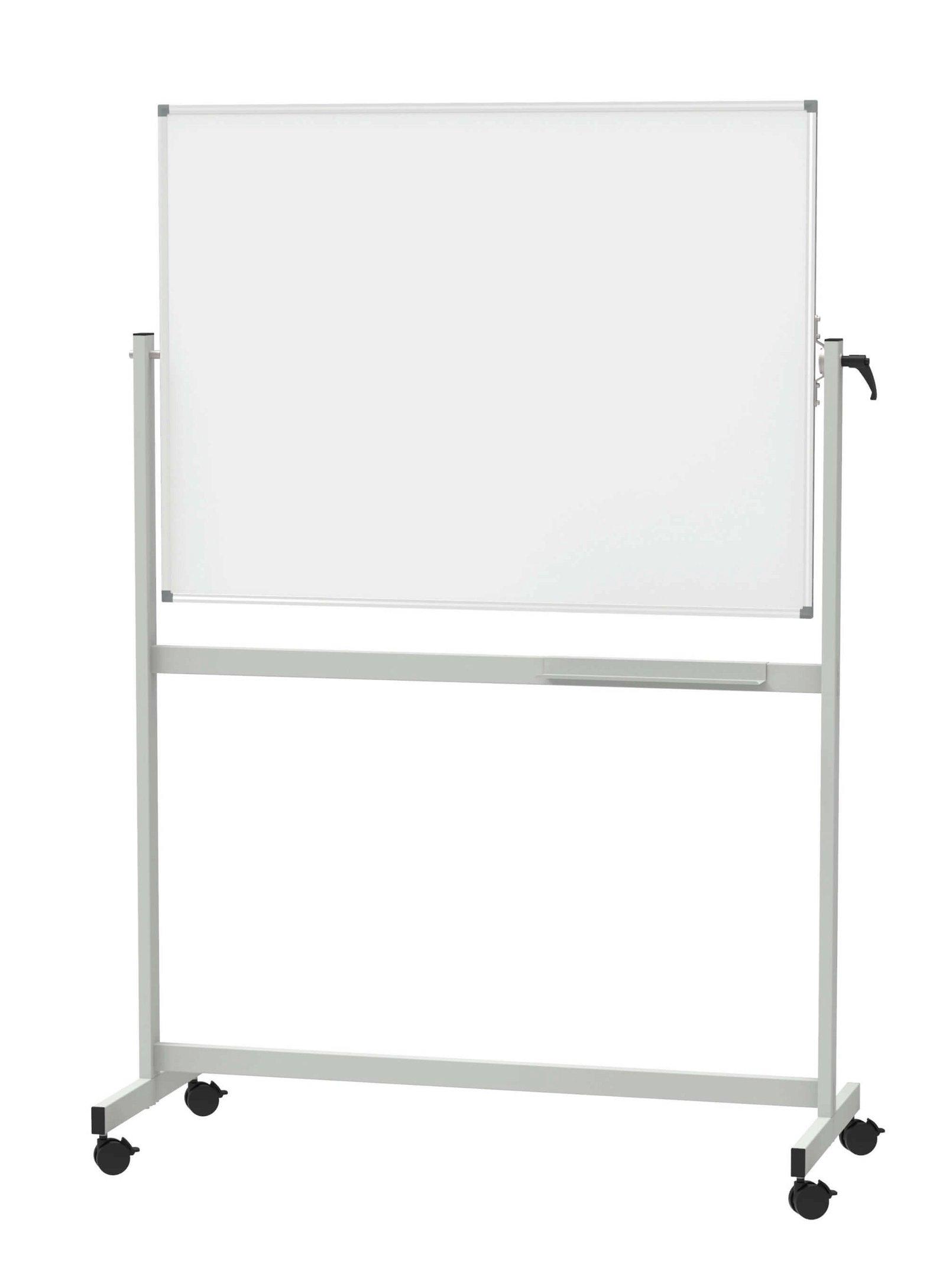 Mobiles Whiteb. MAULstandard, drehbar, Emaille, 90x120 cm, grau