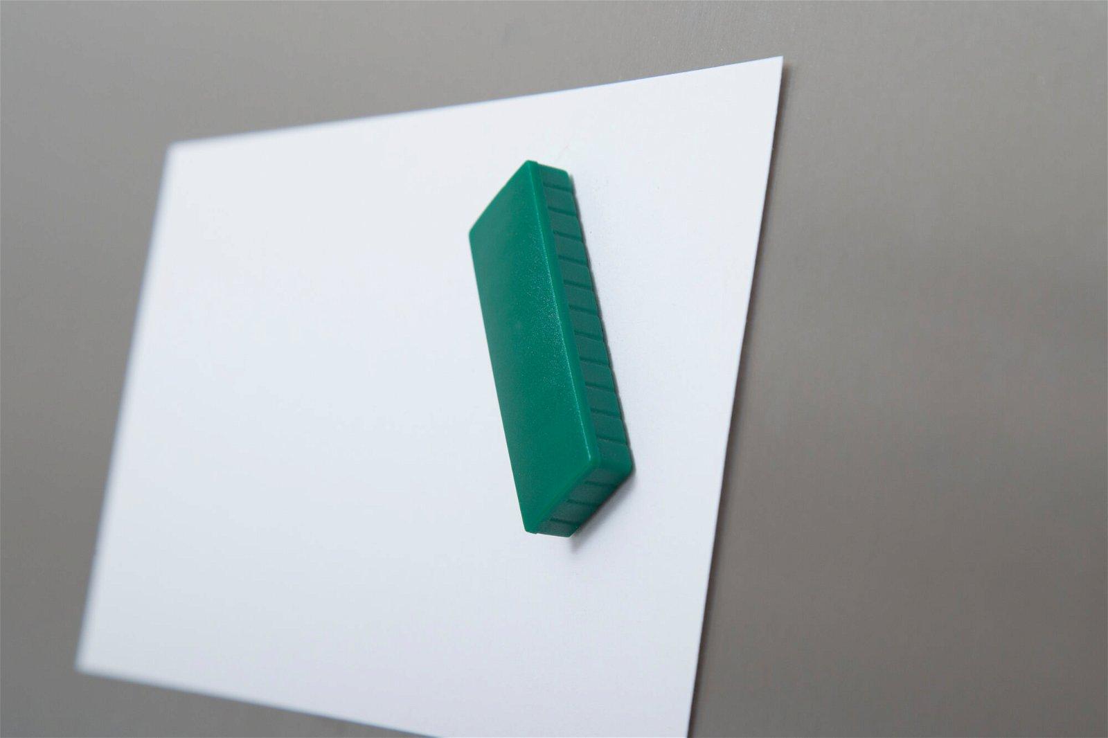 Magnet MAULsolid 54 x 19 mm, 1 kg Haftkraft, 10 St./Ktn., grün