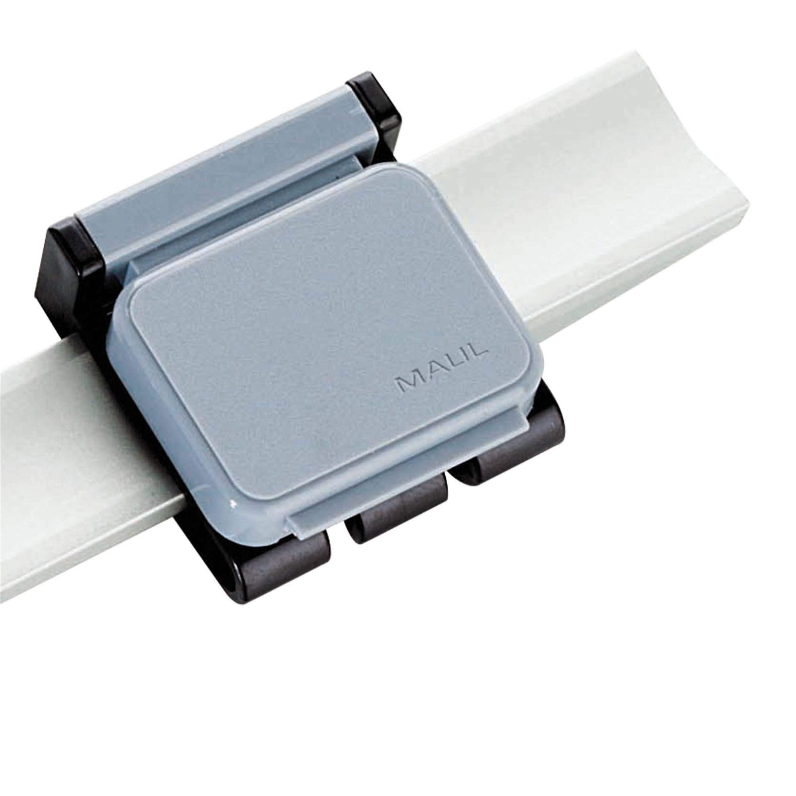 Magnetclip V, 10 St./Ktn., grau