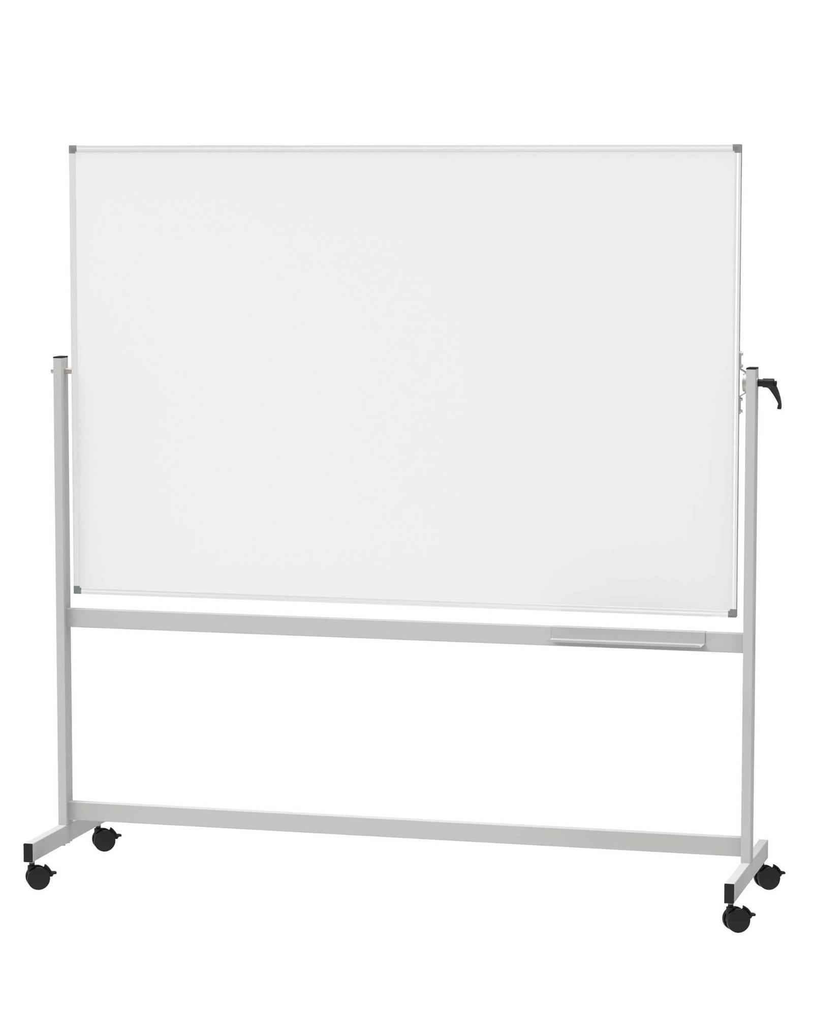 Mobiles Whiteboard, MAUL- standard, drehbar, 120x180 cm, grau