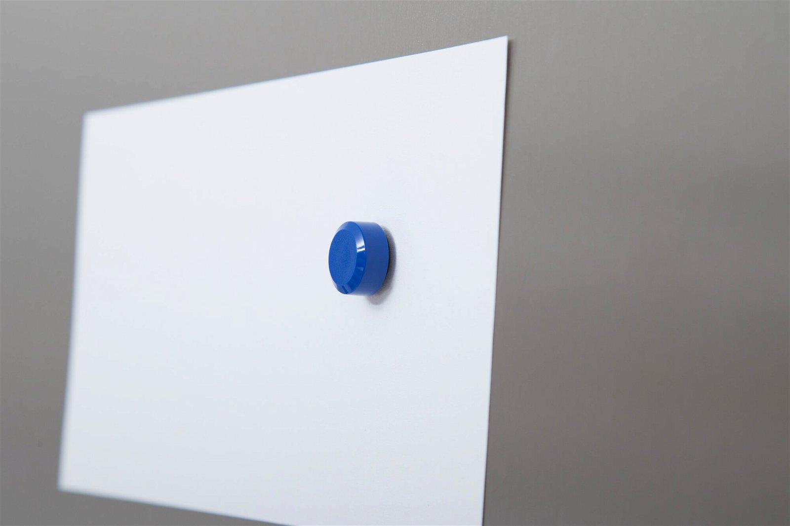 Facetterand-Magnet MAULpro Ø 15 mm, 0,17 kg, 20 St./Set, blau