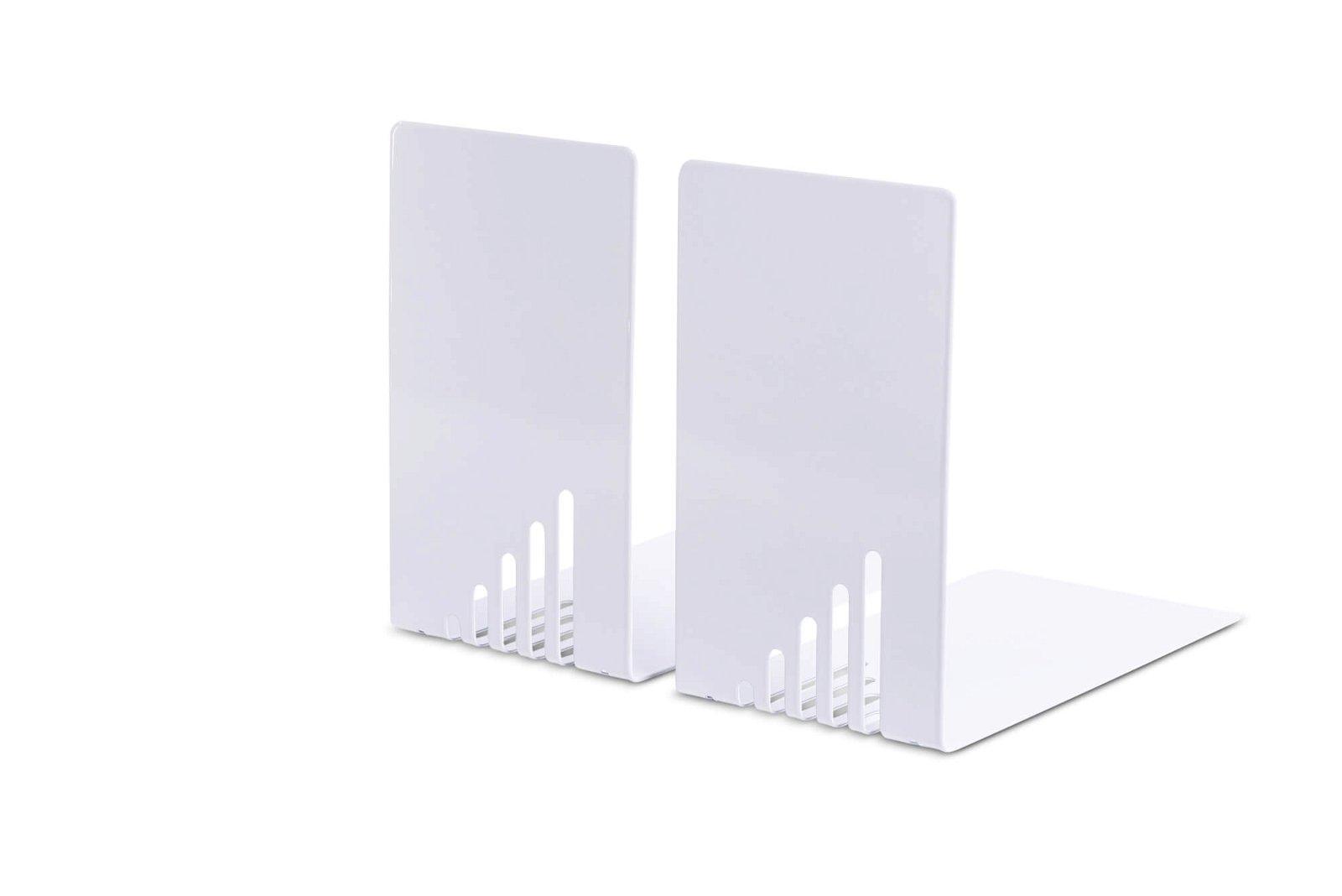 Buchstützen aus Metall, schmal, 14 x 8,5 x 14 cm, grau