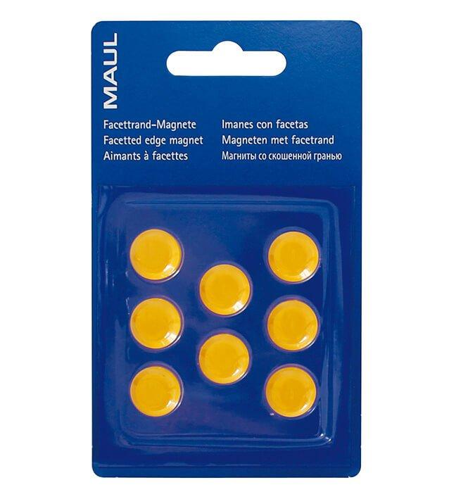 Facetterand-Magnet MAULpro SB Ø 15 mm, 0,17 kg, 8 St./Set, gelb