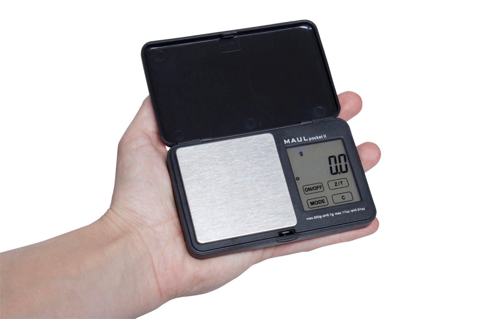 Taschenwaage MAULpocket II, 500 g, schwarz