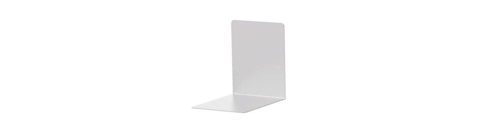 Buchstützen aus Aluminium, 10 x 8 x 10 cm, aluminium