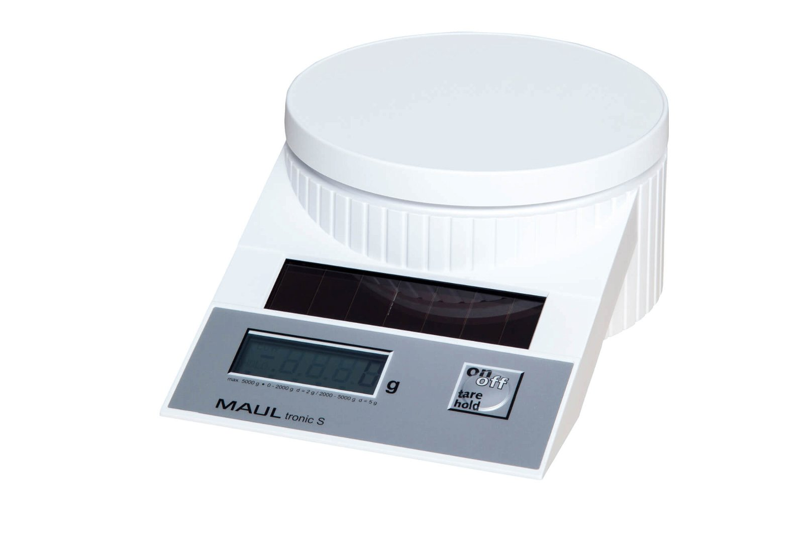 Solar-Briefwaage MAULtronic S, 5000 g, weiß