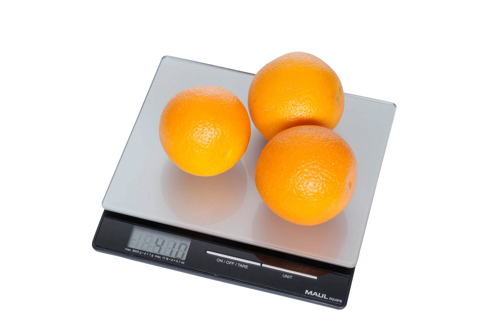 Briefwaage MAULsquare mit Batterie, 5000 g, silber