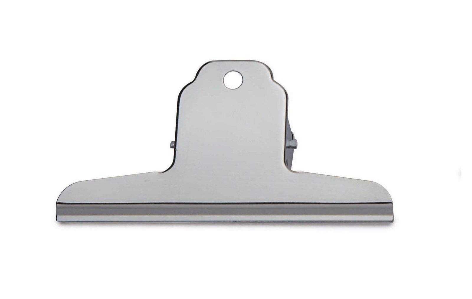 Brief-Klemmer, Breite 120 mm 10 St./KT, hellsilber
