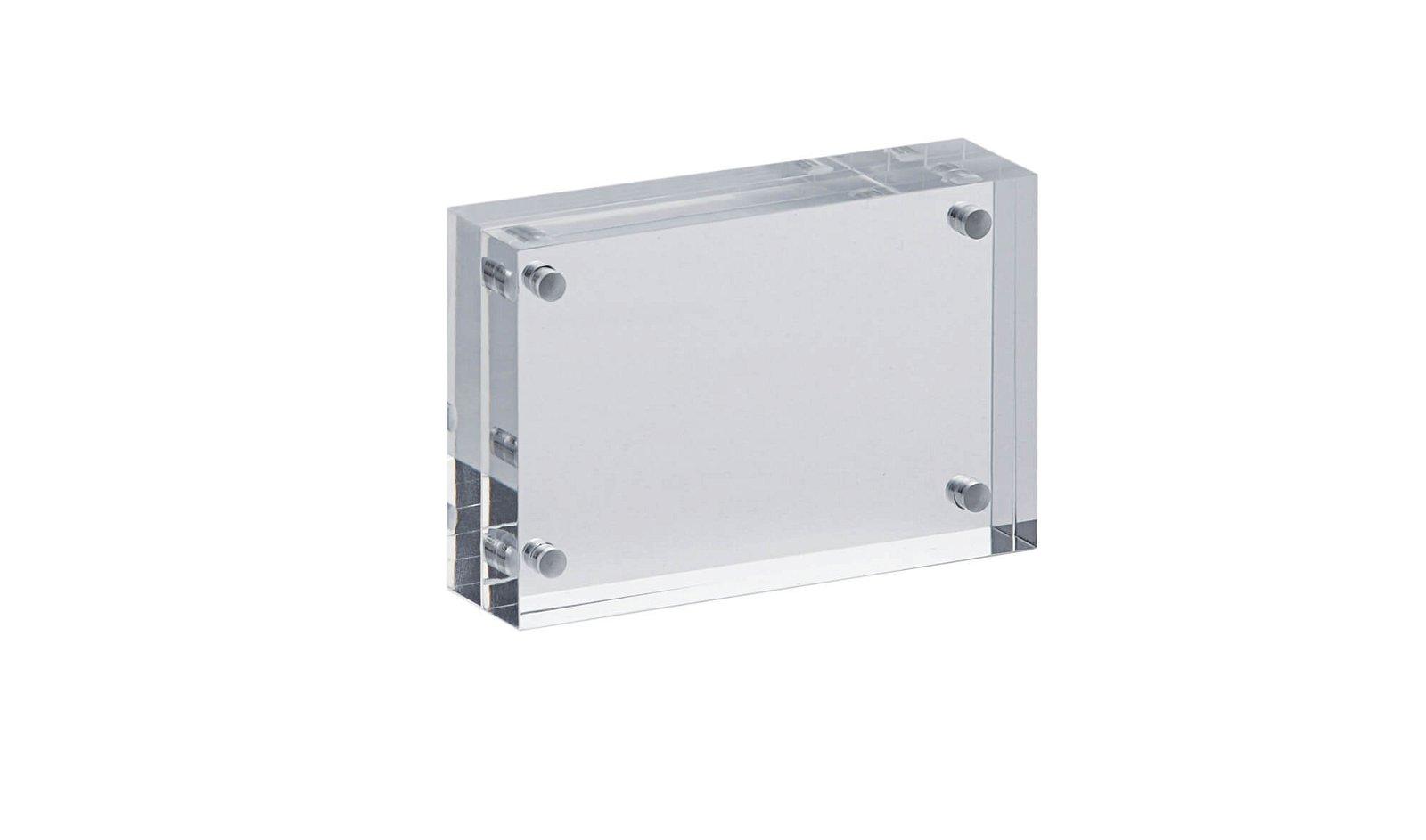 Acryl-Bilderhalter, 7,5 x 5 x 2 cm, glasklar