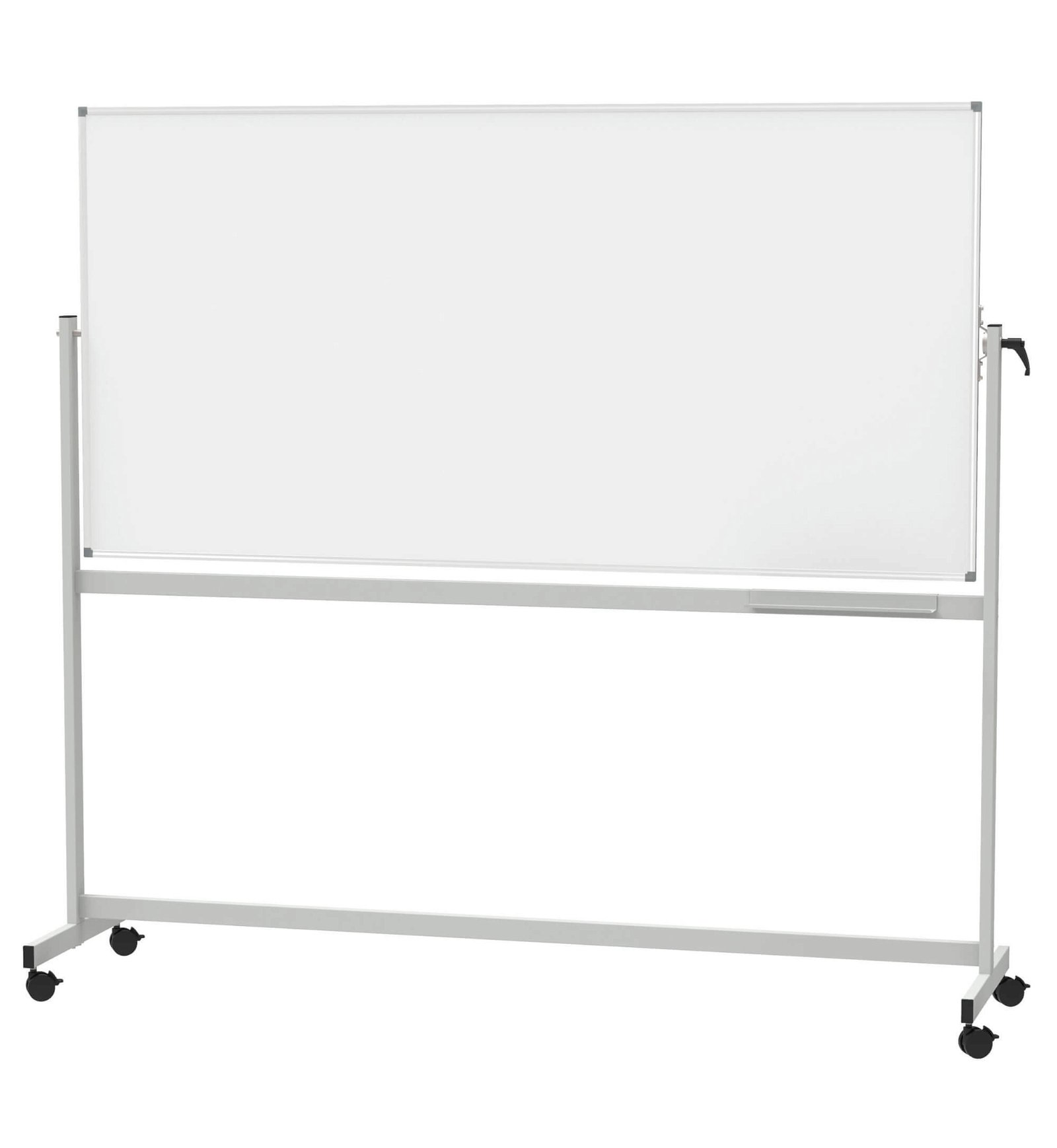 Mobiles Whiteb. MAULstandard, drehbar, Emaille, 100x200 cm, grau