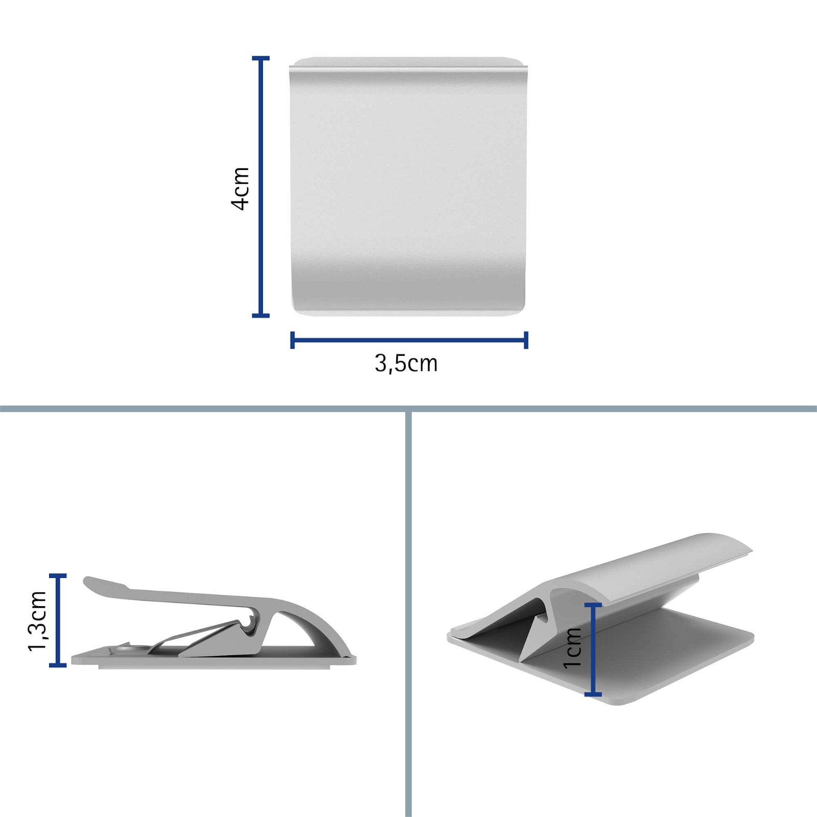 Klemmleiste Aluminium, Länge 3,5 cm, aluminium
