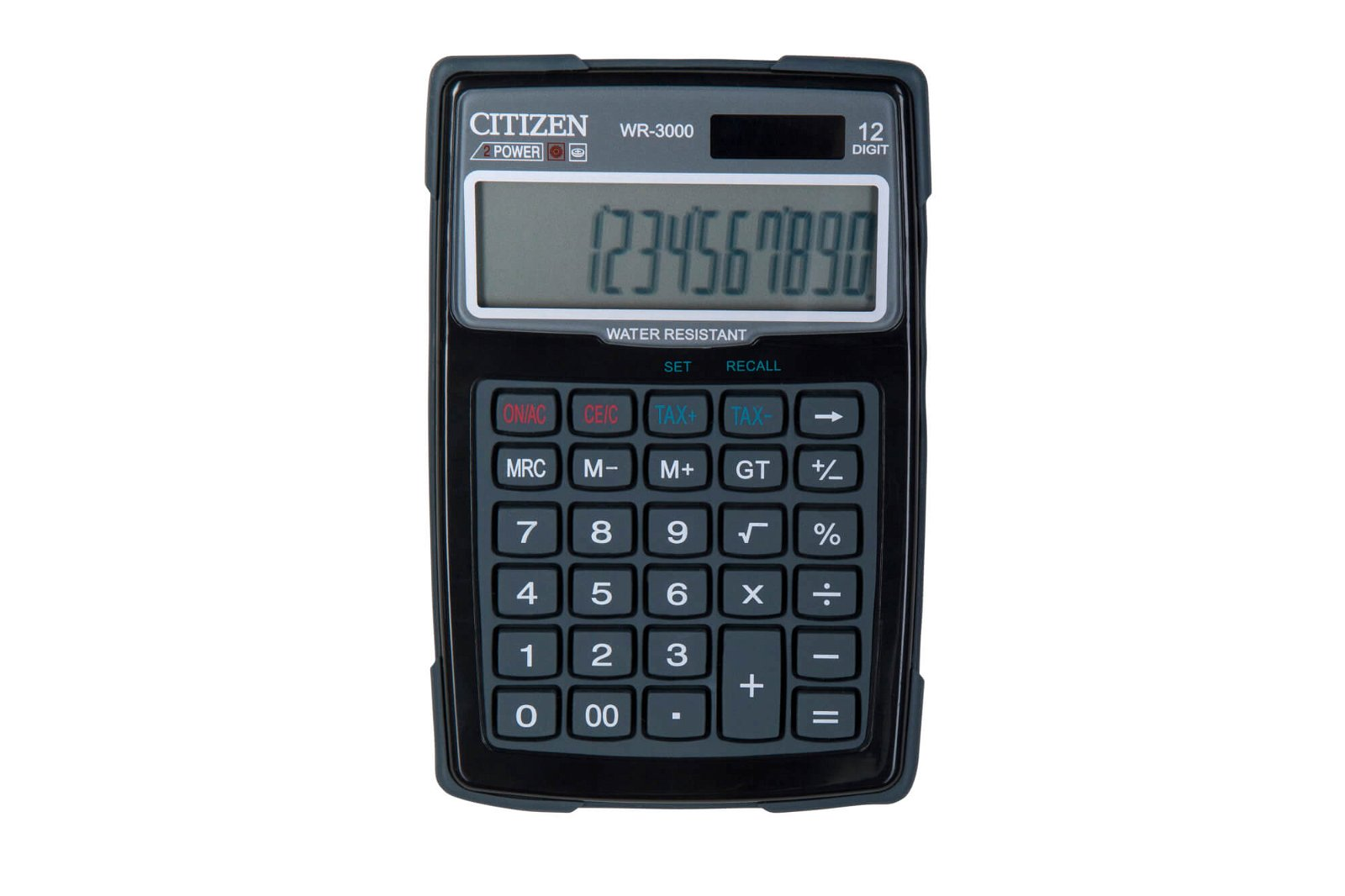 Tischrechner outdoor WR-3000, schwarz