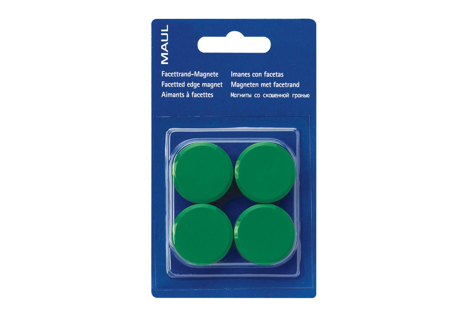 Facetterand-Magnet MAULpro SB Ø 30 mm, 0,6 kg, 4 St./Set, grün