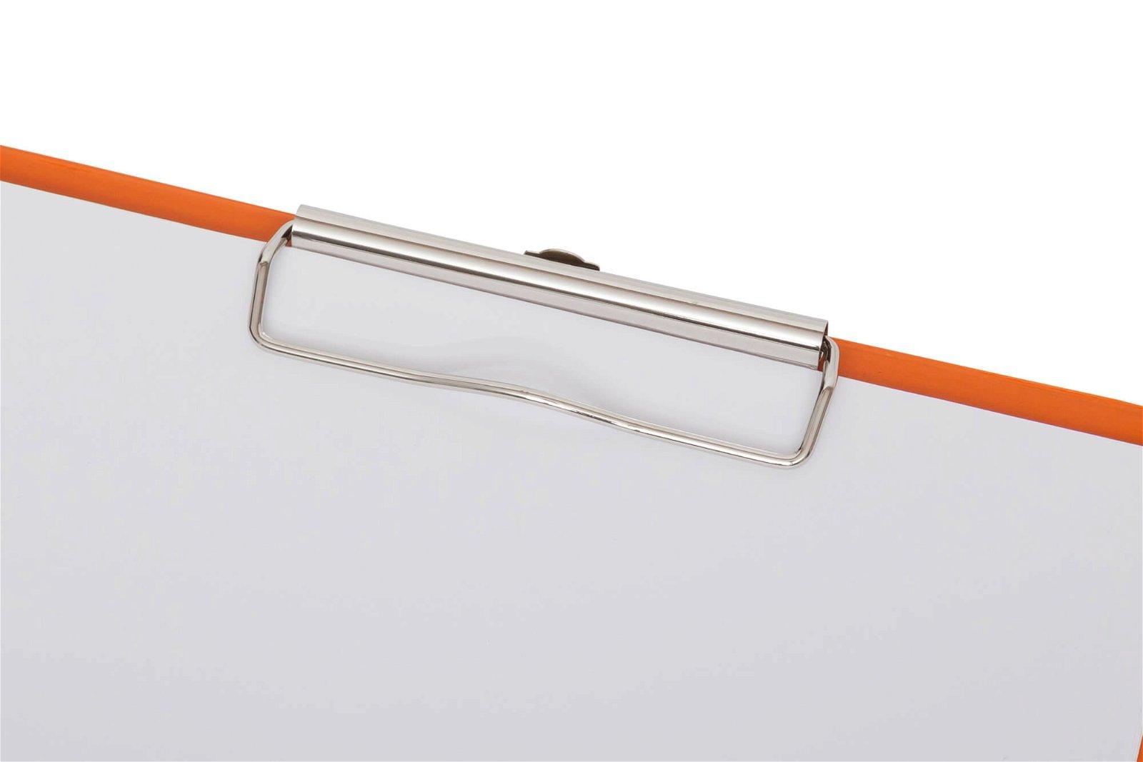 A4 Schreibmappe mit Folien- überzug, orange