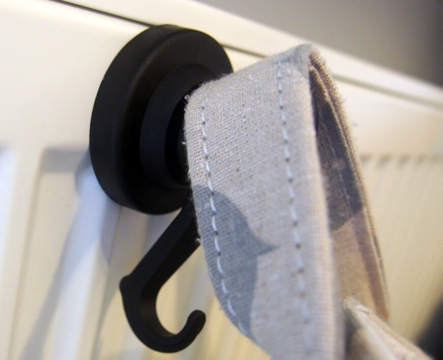 Neodym-Magnet Karusell-Haken Ø 53 mm, 10 kg Haftkraft, schwarz