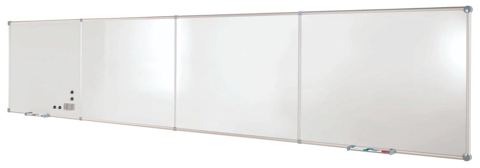 Endlos-Whiteboard Erweite- rung, 90x120 cm, quer, Emaille, grau
