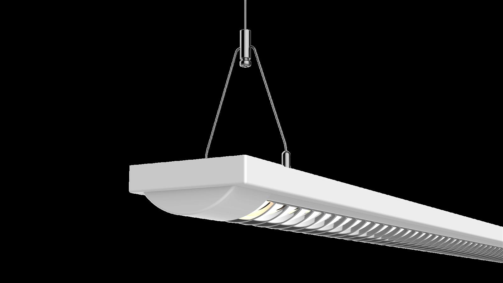 Energiespar-Pendel und Decken- leuchte MAUL line 1x 58W 155cm, weiß