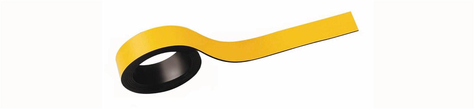 Magnetstreifen, 1,5x100 cm, 2 St./Set, gelb