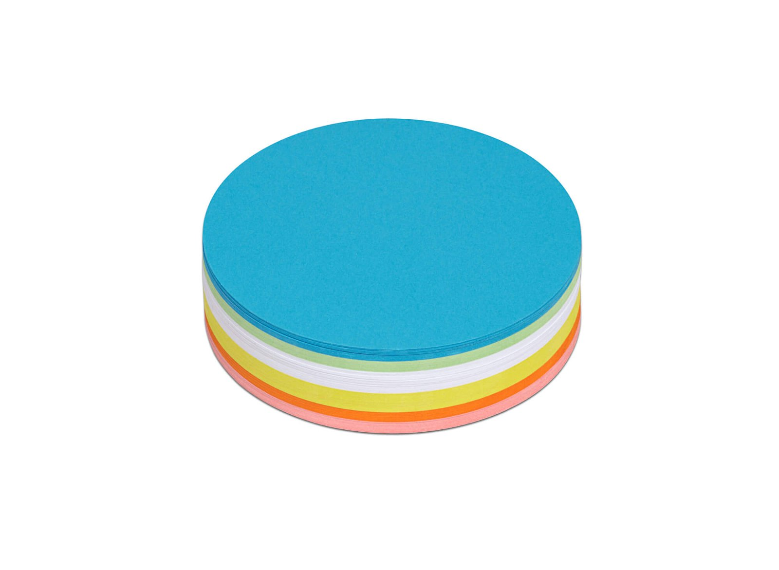 Moderationskarten rund, Ø 9,5 cm, 120 St./Pack, farbig sortiert