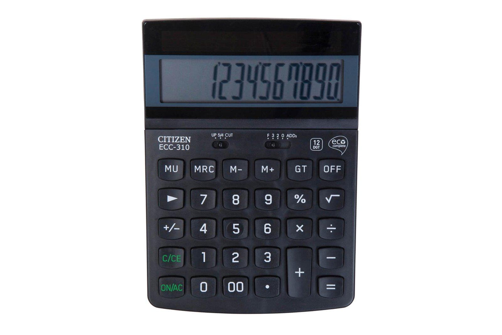 Tischrechner ECC 310 Eco, schwarz