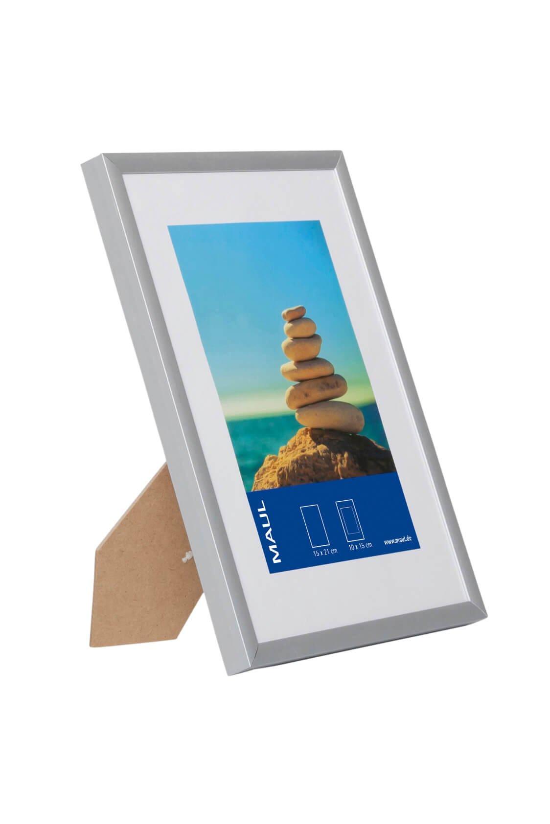 Bilderrahmen Aluminium, 15 x 21 cm, glasklar