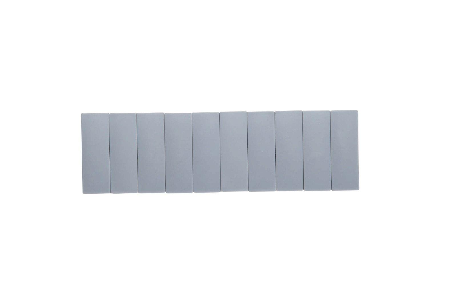 Magnet MAULsolid 54 x 19 mm, 1 kg Haftkraft, 10 St./Ktn., grau