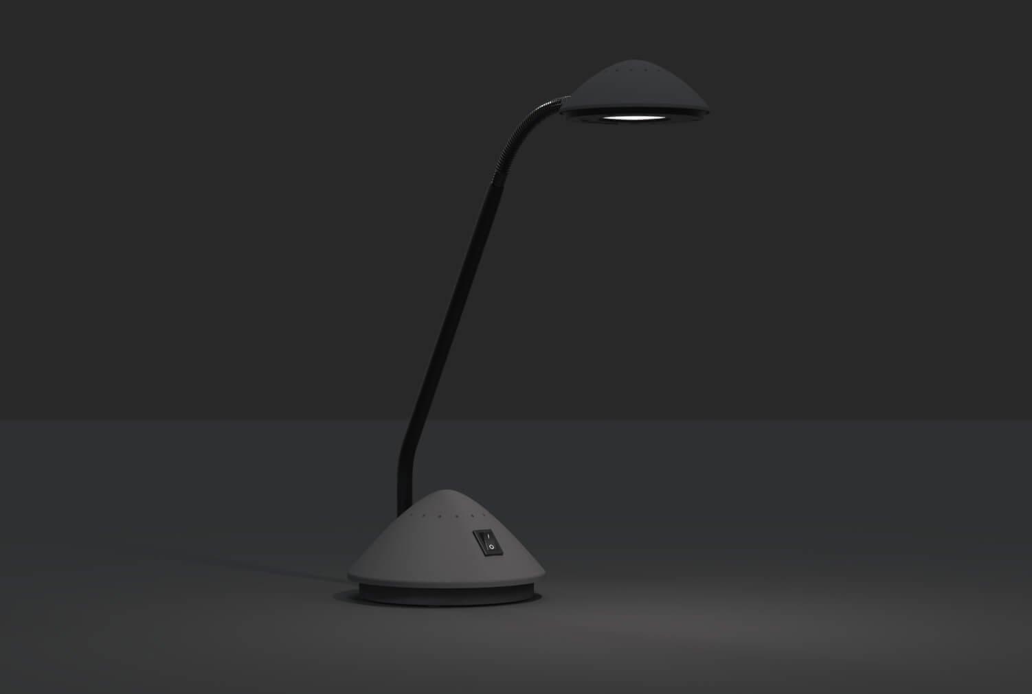 LED-Tischleuchte MAULarc, schwarz