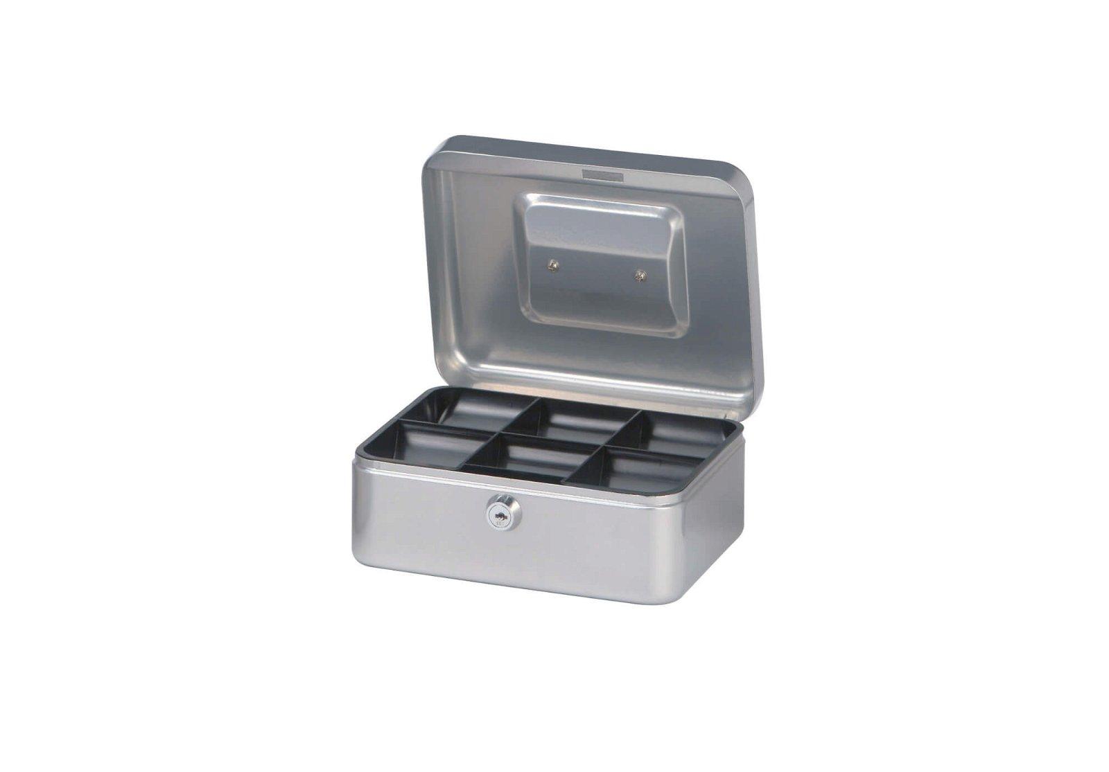 Geldkassette 2, 20 x 17 x 9 cm, silber