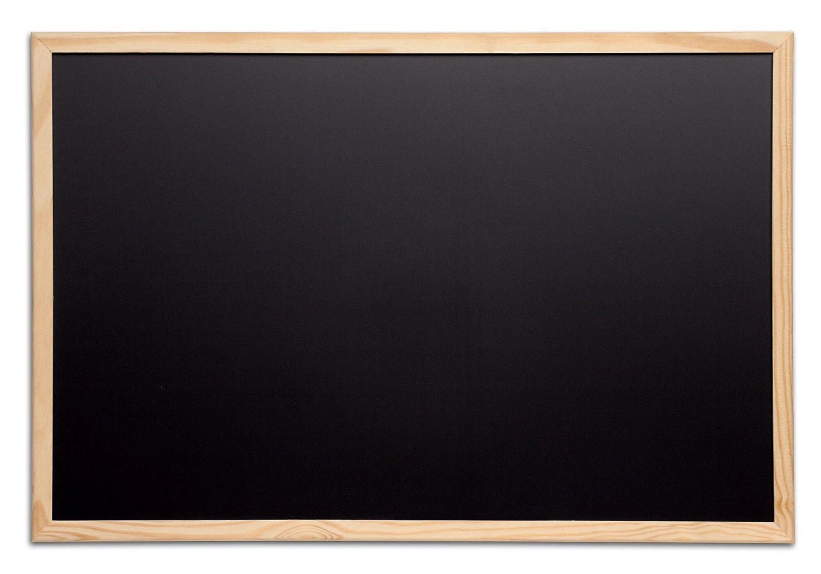 Kreidetafel mit Holzrahmen, 40x60 cm, holz