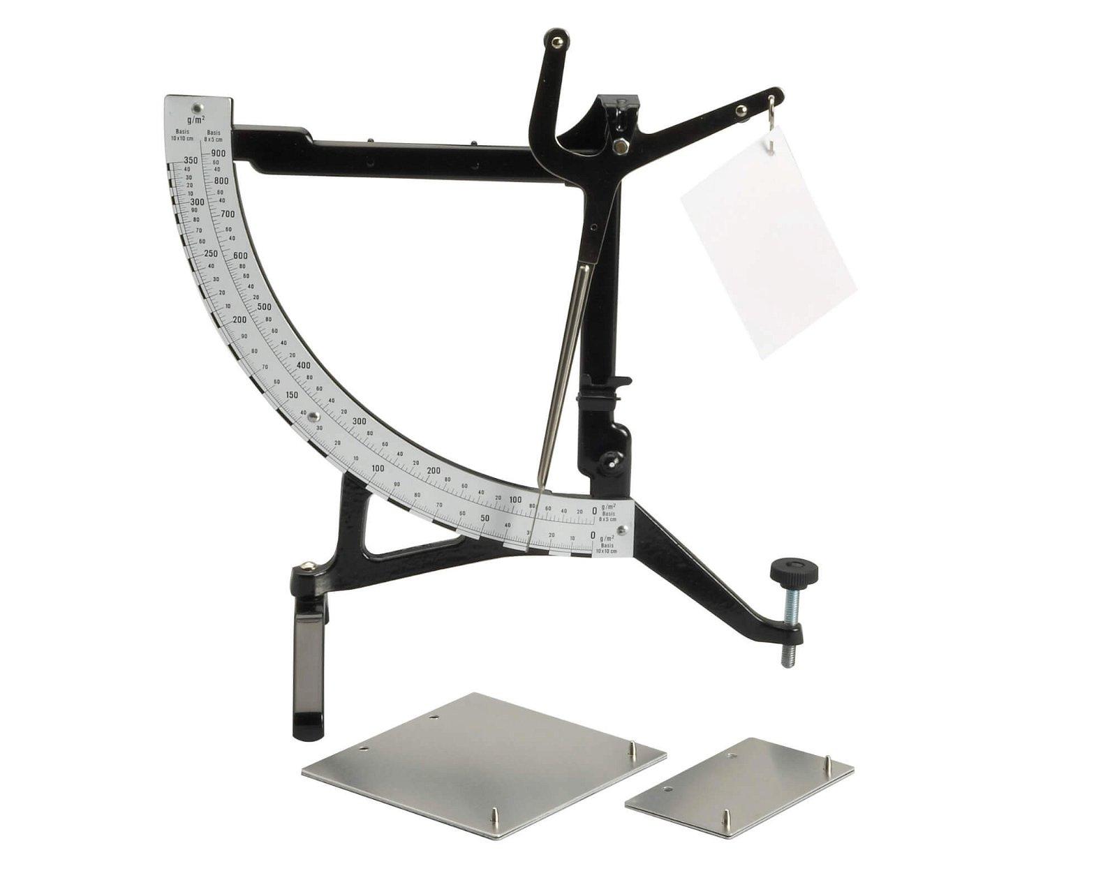 Papierwaage 350 g/qm und  900 g/qm, schwarz
