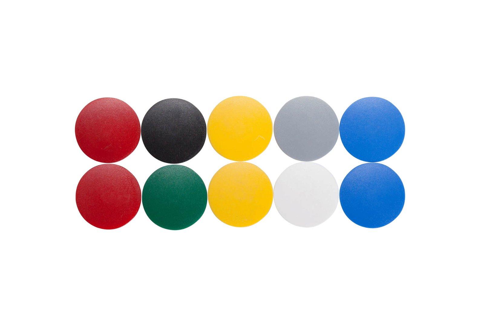 Magnet MAULsolid Ø 32 mm, 0,8 kg Haftkraft, 10 St./Ktn., farbig sortiert
