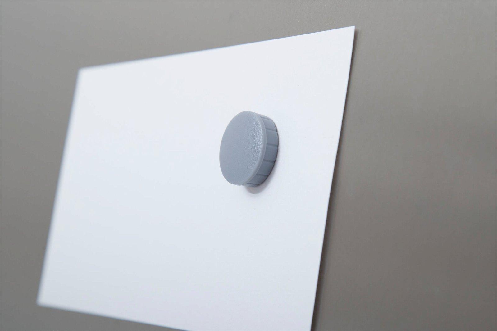 Magnet MAULsolid Ø 24 mm, 0,6 kg Haftkraft, 10 St./Ktn., grau